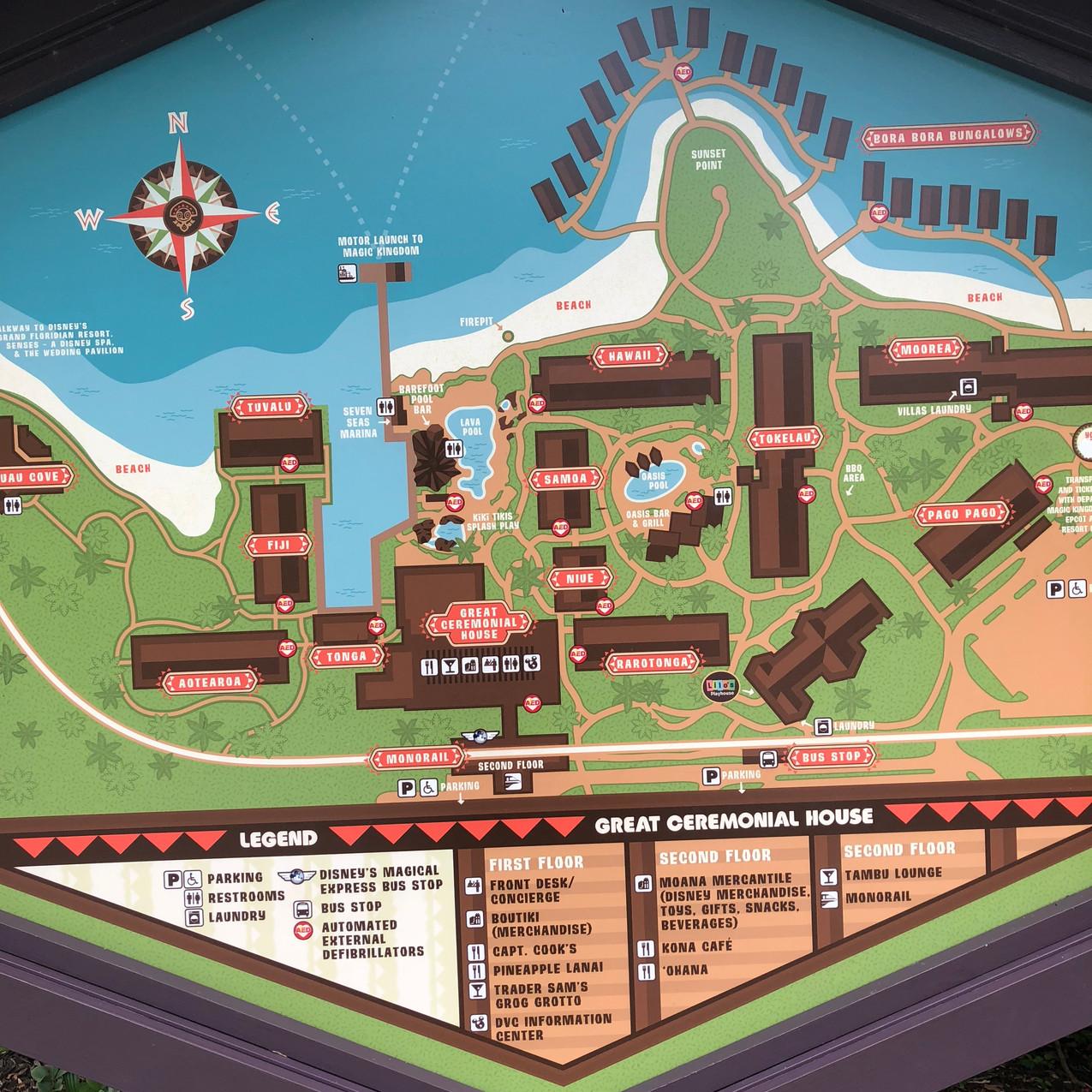 Disney's Polynesian Village Resort map