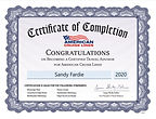 American Cruise Lines Certificate_051820
