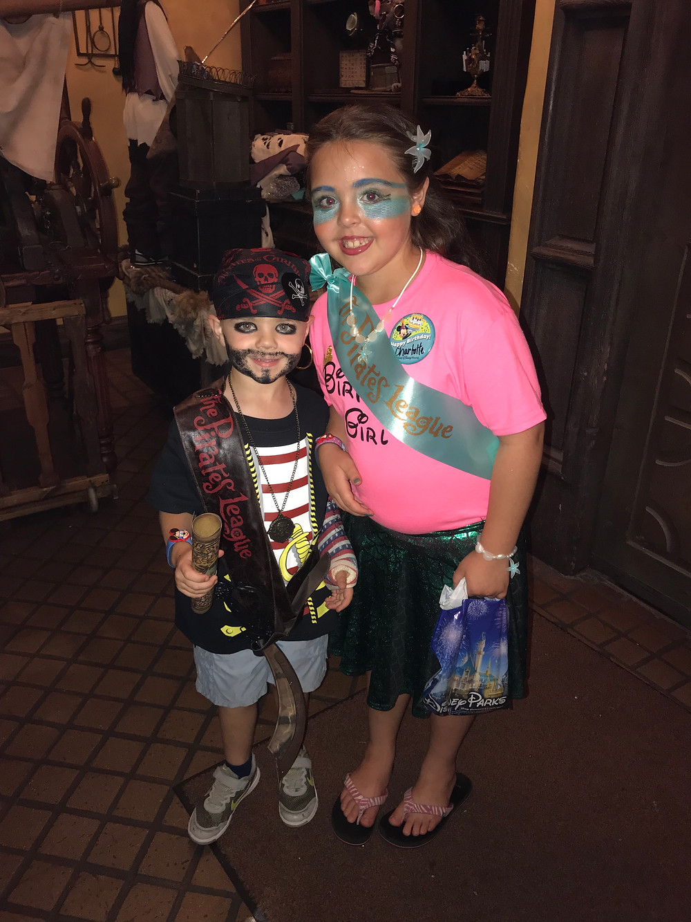 Pirate & Mermaid transformation