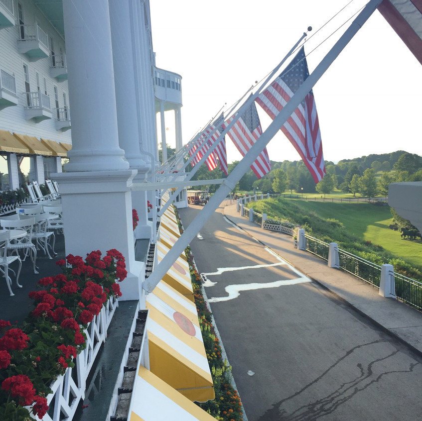 Flags fly every day at The Grand Hotel