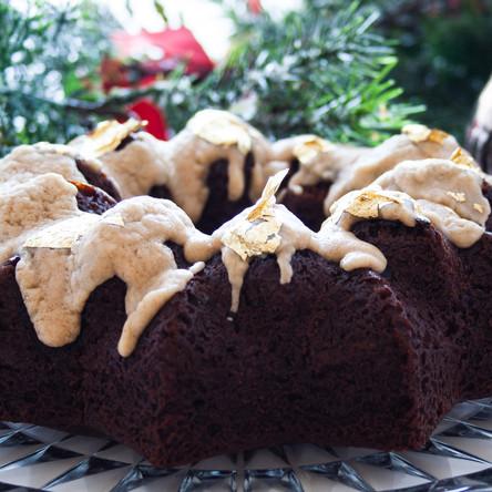 Moist Gingerbread Cake with a Bourbon Brown Butter Glaze