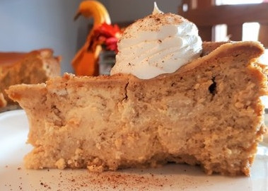 Crust-less Pumpkin Cheesecake