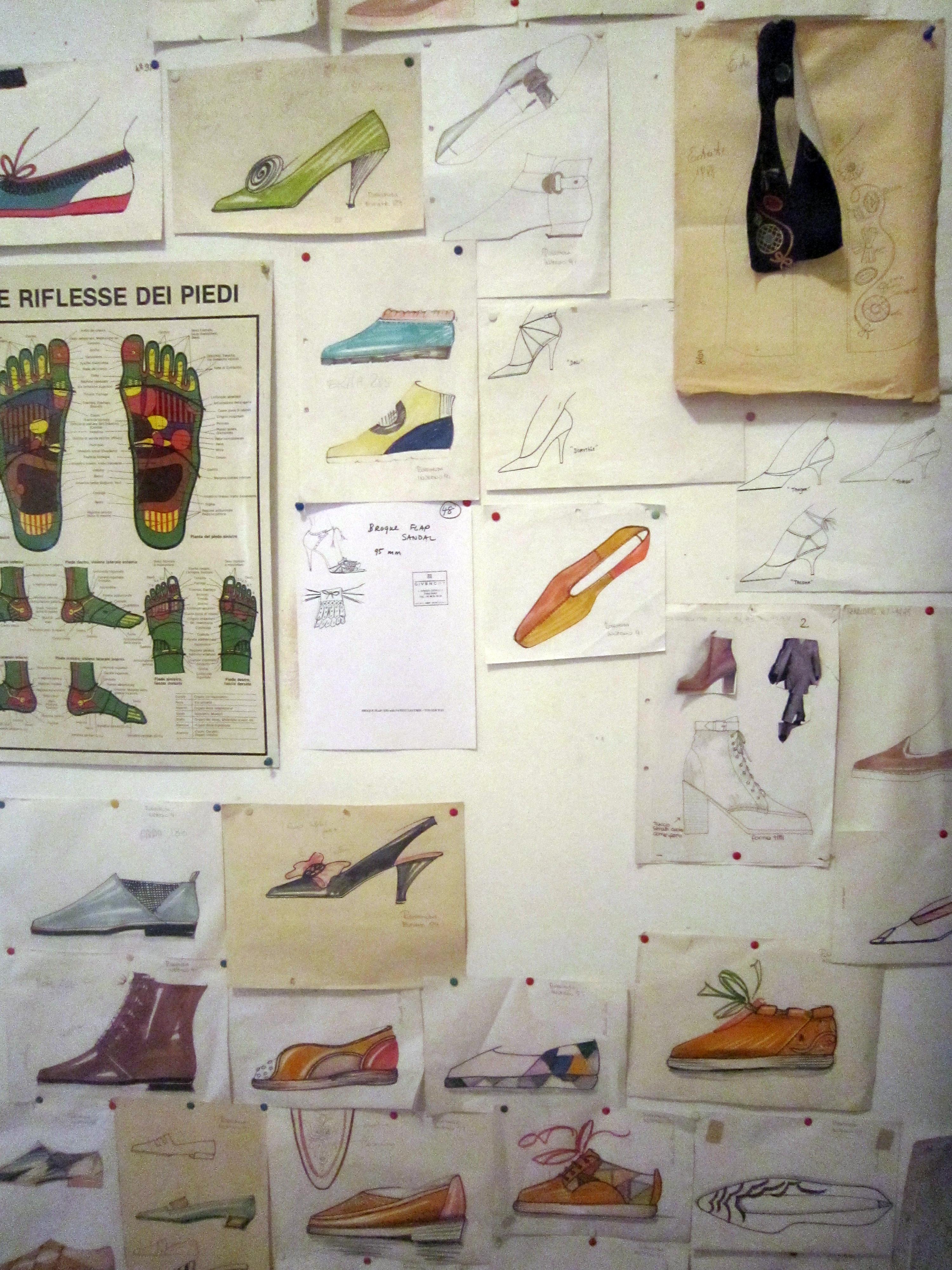 Bozzetti di scarpe
