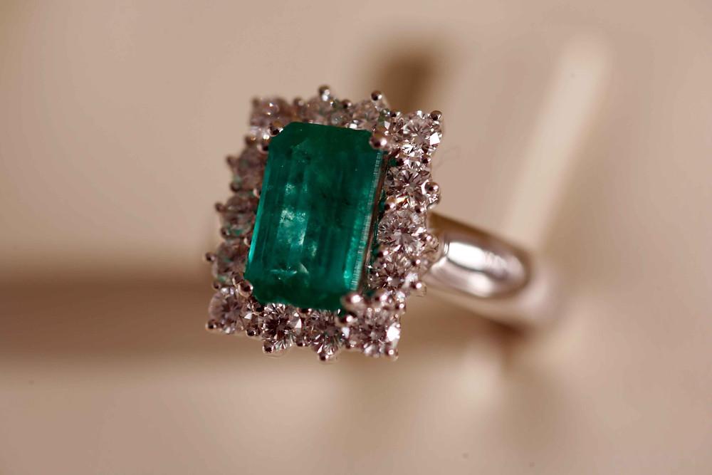 Smeraldo con diamanti - Re Carlo
