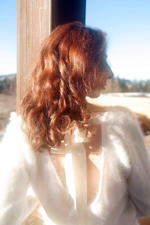 Il pull che indosso è di Luisa Spagnoli