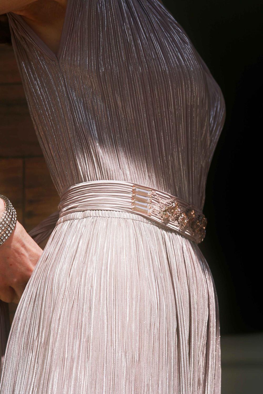 cintura con strass e pietre tono su tono