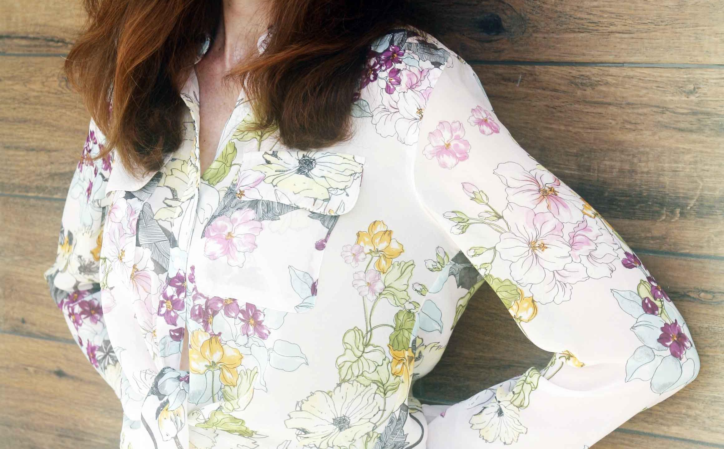 camicia floreale guess