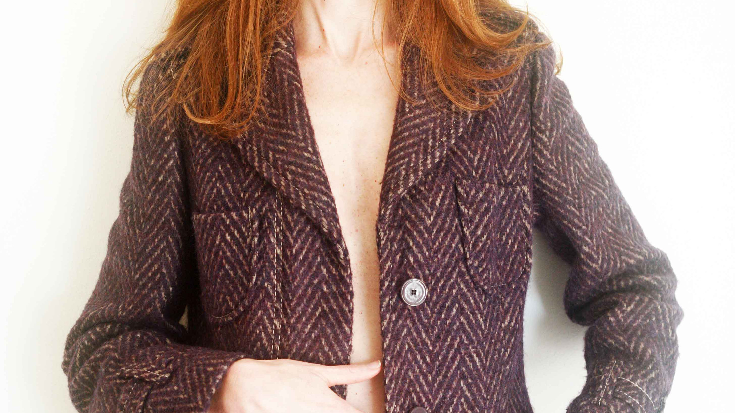 Il Cappotto in Tweed viola