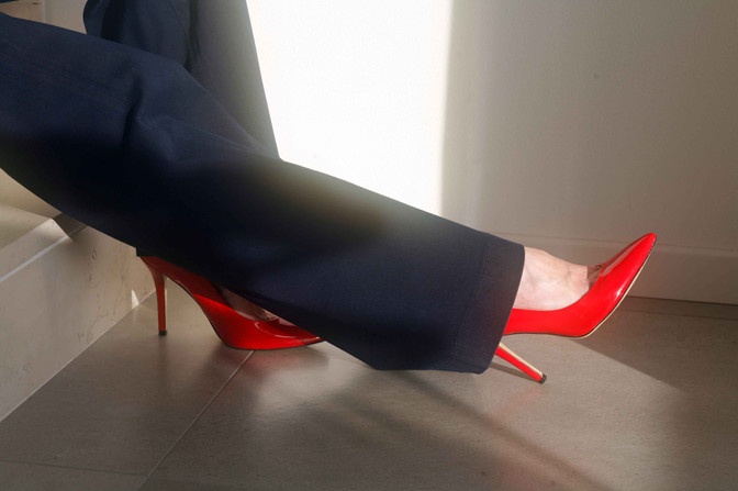 Decollete red fire