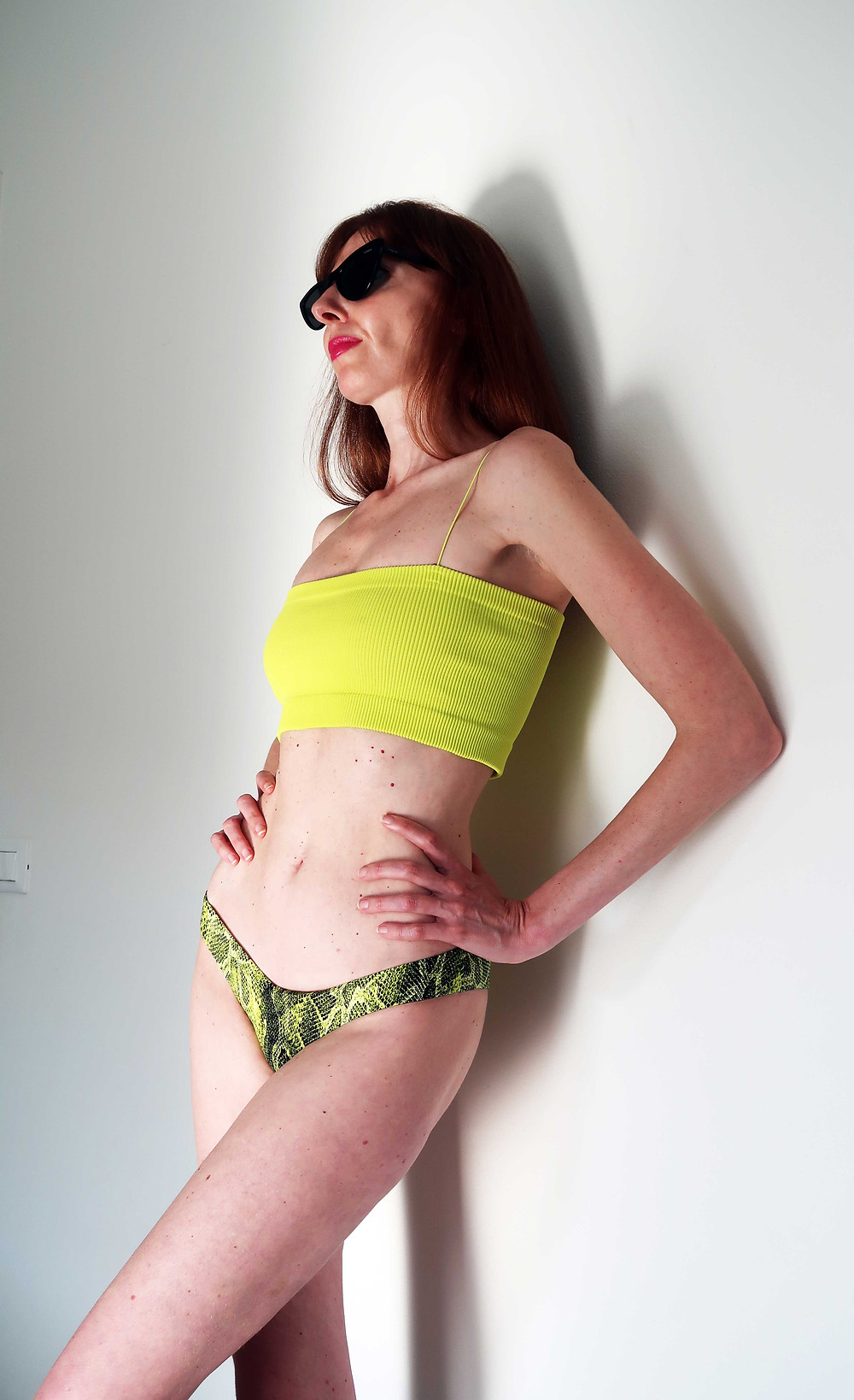 fascia più slip giallo fluo