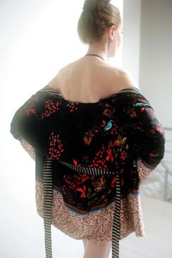 kimono fiori e strisce