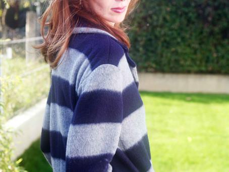 Stripes on coat