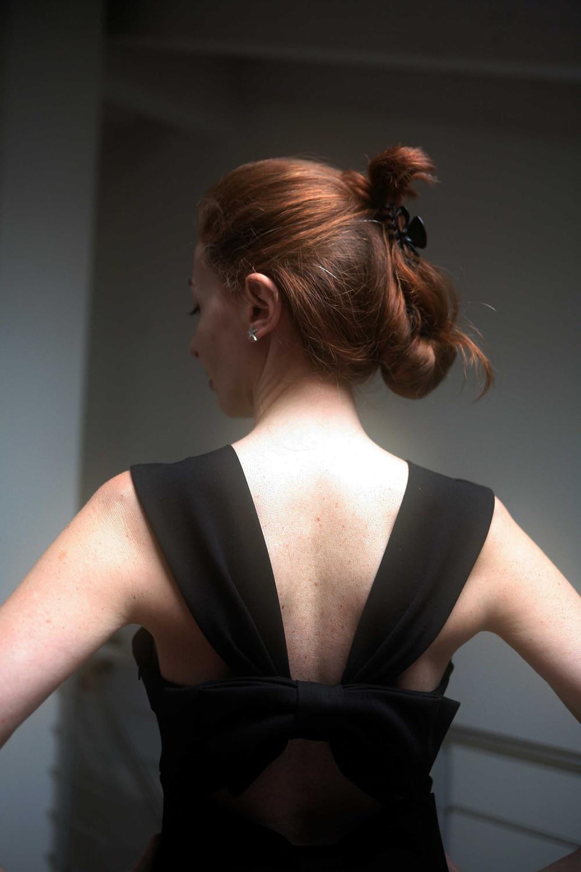doppio fiocco sulla schiena