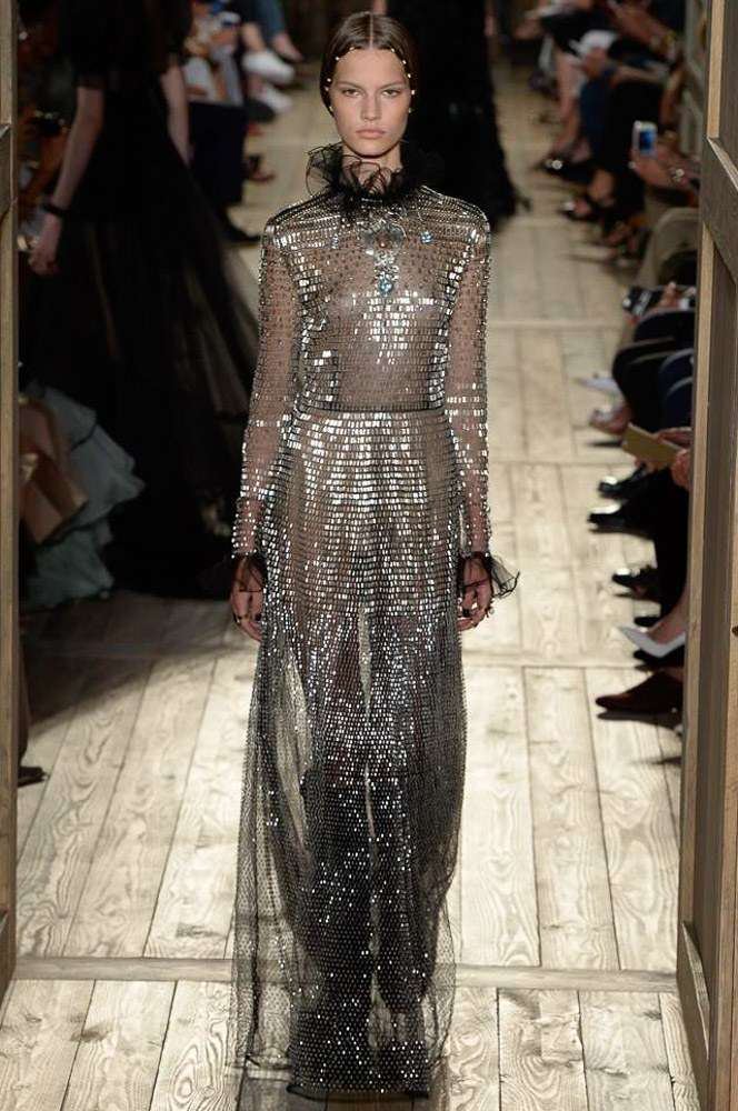 silver dress Valentino