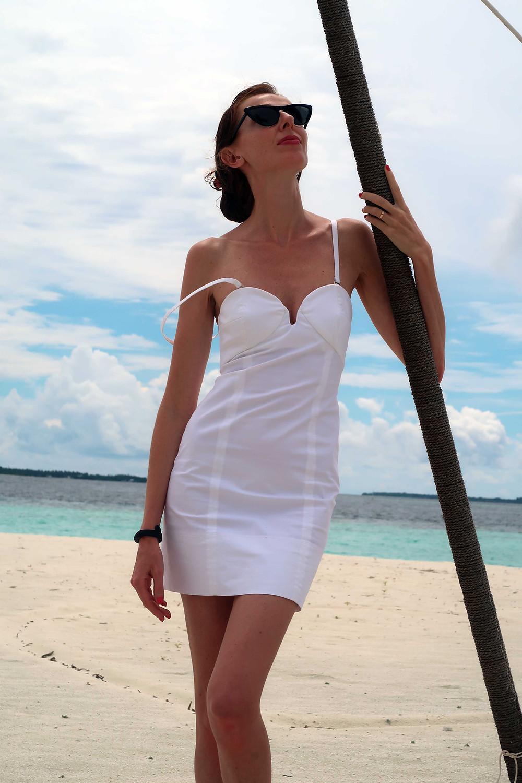 mini abito bianco patrizia pepe
