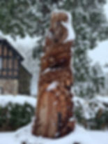 The Ridge, Yate, tree carving