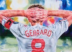 liverpool football david gerrard colored pencil portrait