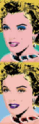 marilyn monroe pop art portrait