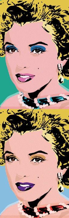 marilyn monroe pop art portrait