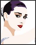 glamourous audrey hepburn pop art portrait
