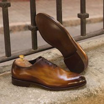Whole Cut Oxfords in Brown Calf