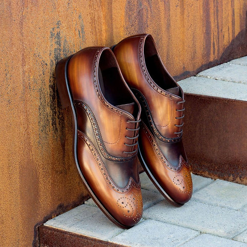 Full Brogue Patina Custom Shoe