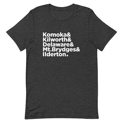 Komoka&Kilworth&Delaware&MT.Brydges&Ilderton - Short-Sleeve Unisex T-Shirt