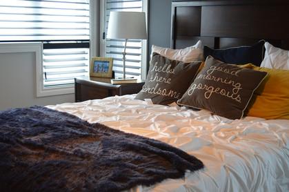 Wohntextilien im Schlafbereich
