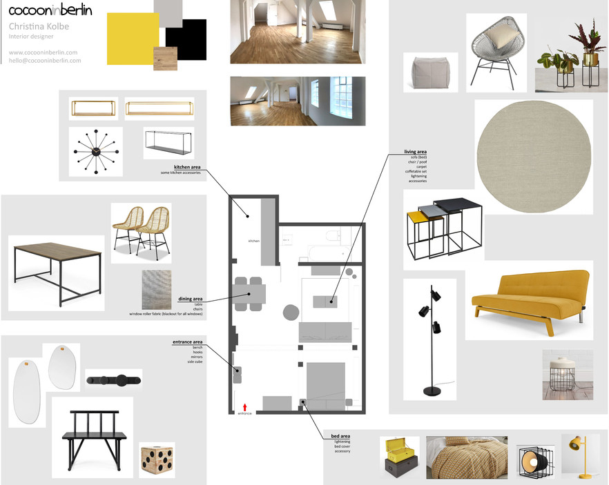 Dachgeschoss R61 – Moodboard – cocooninberlin