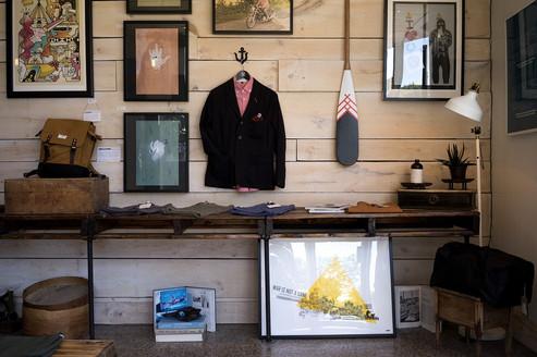 Gestaltung von Kleidungsgeschäft