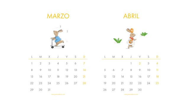 CALENDARIO INFANTIL 2021 PATRICIA DE COS