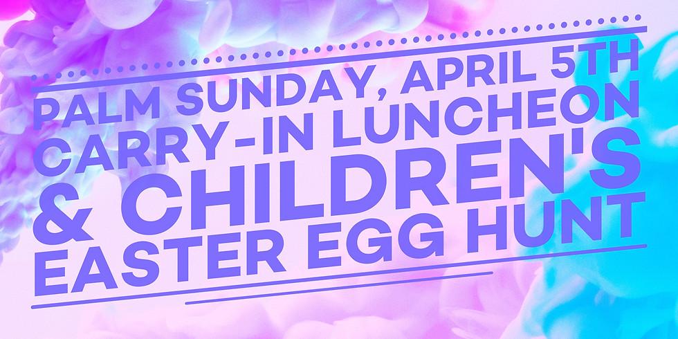Palm Sunday Lunch & Easter Egg Hunt
