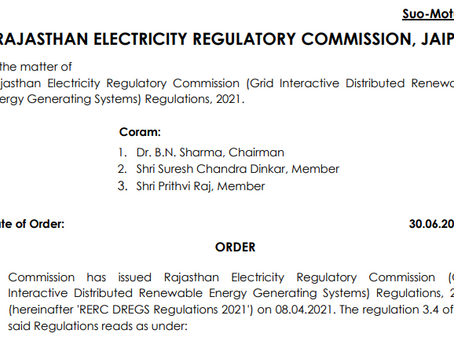 RERC grants 𝗘𝘅𝘁𝗲𝗻𝘀𝗶𝗼𝗻 𝘂𝗽 𝘁𝗼 𝟭𝟱.𝟬𝟵.𝟮𝟬𝟮𝟭 for Net Metering up to 1 MW