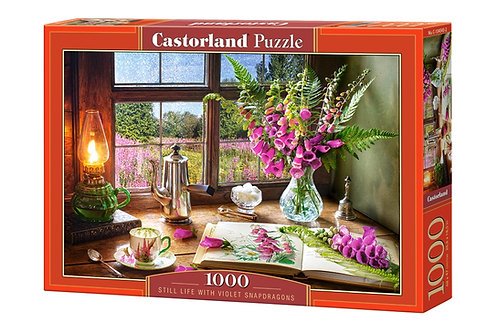 1000PC PUZZLE - STILL LIFE WITH VIOLET SNAPDRAGONS