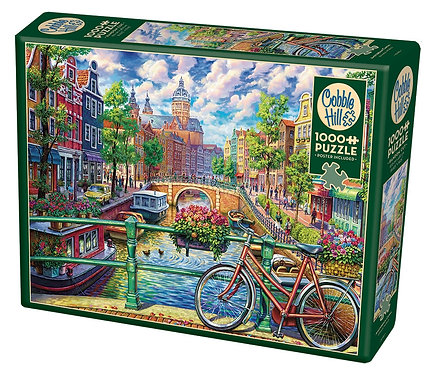 1000PC PUZZLE - AMSTERDAM CANAL - 80180