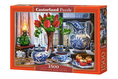 1500PC PUZZLE - STILL LIFE WITH TULIPS - 151820