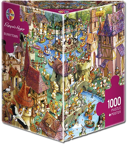 1000PC PUZZLE - BUNNY TOWN - 29496