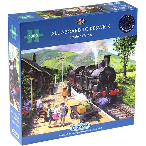 1000PC PUZZLE - ALL ABOARD TO KESWIC - 6272