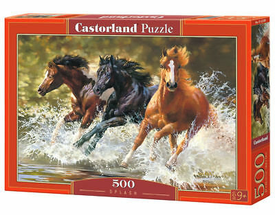 500PC PUZZLE - HORSES ON BEACH - 52578