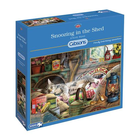 1000PC PUZZLE - SNOOZING IN THE SHED - 6248