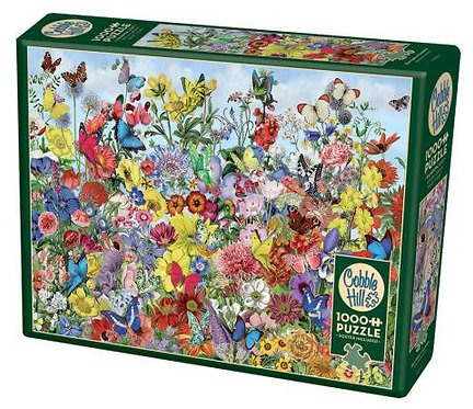 1000PC PUZZLE - BUTTERFLY GARDEN - 80032