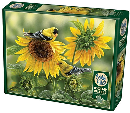 1000PC PUZZLE - SUNFLOWERS AND GOLDFINCHES - 80115