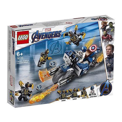 LEGO ® SUPER HEROES - 76123  CAPTAIN AMERICA :  ATTACK