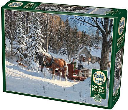 1000PC PUZZLE - SUGAR SHACK HORSES - 80067