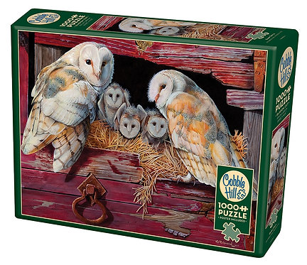 1000PC PUZZLE - BARN OWLS - 80052