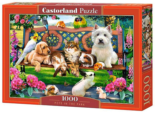 1000PC PUZZLE - PETS IN THE PARK - 104406