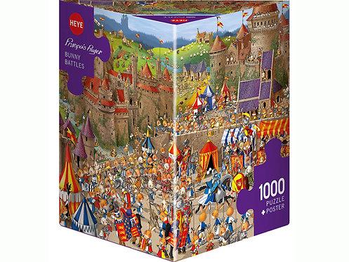 1000PC PUZZLE - BUNNY BATTLES - 29920