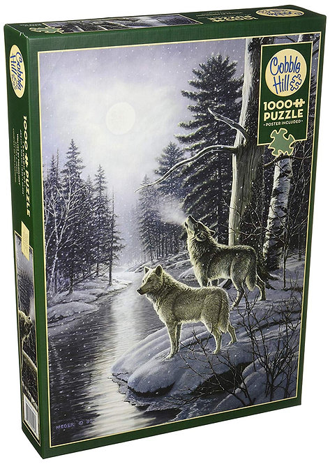 1000PC PUZZLE - WOLVES BY MOONLIGHT - 80108