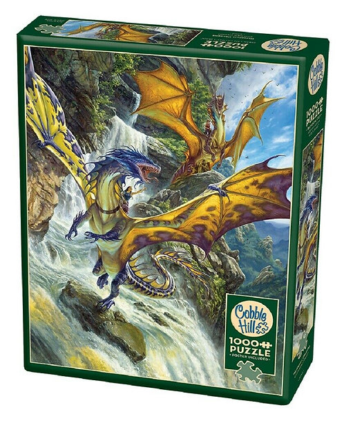 1000PC PUZZLE - WATERFALL DRAGONS - 80105
