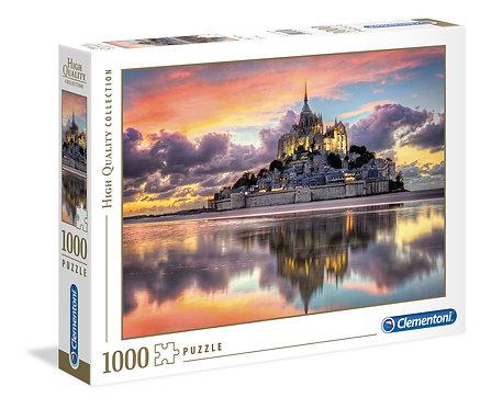 1000PC PUZZLE - LE MAGNIFIQUE MONT SAINT-MICHAEL - 393671